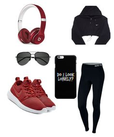 """""""VDay Workouts"""" by laimageclothing ❤ liked on Polyvore featuring NIKE, Beats by Dr. Dre and Yves Saint Laurent"""