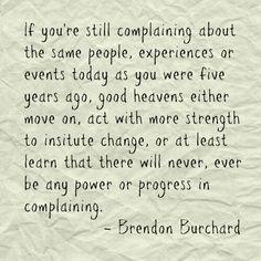 STOP complaining! Do something!