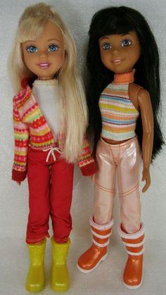2004 Mattel Wee 3 Three Friends Barbie Janet & Stacie Dolls Winter Cold Clothes #Wee3FriendsBarbie #DollswithClothingAccessories