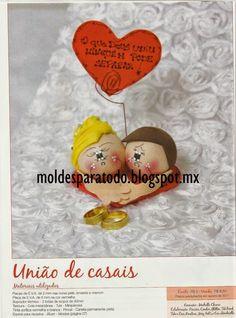 Moldes para Todo: Souvenirs de boda fofuchos