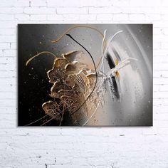 hatsya.jpg - Painting,  55x46x2 cm ©2014 by Nathalie Robert -                                                            Abstract Art, Canvas, Abstract Art, tableau abstrait moderne, peinture abstraite moderne, toile abstrait moderne design, tableau acrylique en relief, peinture acrylique en relief, toile acrylique en relief, tableau noir gris blanc doré, peinture noir gris blanc doré, nathalie robert, art abstrait, abstract textured painting, modern abstract painting, modern contemporary…