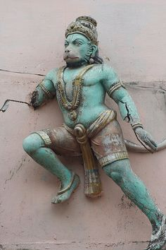 Hanuman, the Monkey-God, and avatar of Lord Shiva whose exploits with Lord Rama are described in the Hindu epic the Ramayana.