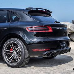Rear shot of the TECHART Macan aero package, exhaust and Formula IV wheels.