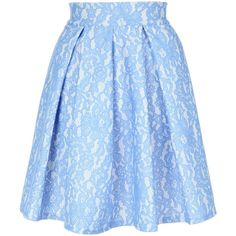 Jane Norman Bonded Lace Skater Skirt ($55) ❤ liked on Polyvore featuring skirts, bottoms, blue, women, circle skirt, flared skater skirt, skater skirt, flared skirt and blue lace skirt
