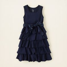 girl - dresses & rompers - knit sequin ruffle dress | Children's Clothing | Kids Clothes | The Children's Place