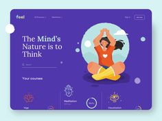 Today we present the landing page of very meditation courses, which provides people with various professional courses. If you want to improve your skills, you can always apply for one . Never Stop Learning, Landing Page Design, Global Design, Saint Charles, Show And Tell, Motion Design, Improve Yourself, Meditation, Mindfulness