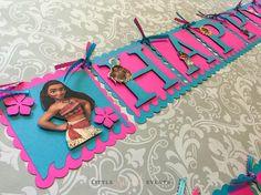 Banner de cumpleaños de Moana Moana cumpleaños partido de