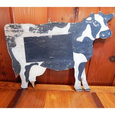 Vintage Cow Cutout Sign - Rustic Decor | Vintage Adirondack