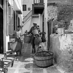 Mykonos island, Photo by Petros Broussalis Benaki Museum Photographic Archives Mykonos Island, Mykonos Greece, Athens Greece, Greece Pictures, Old Pictures, Vintage Pictures, Vintage Images, Greece Photography, Vintage Photography