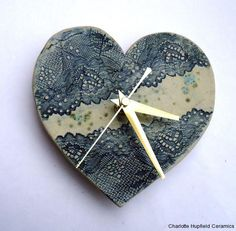 I love this Clock, Made by my good friend Charlotte. Check out her work at www.charlottehupfieldceramics.com
