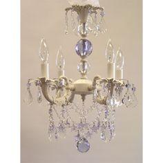 Sugar Plum Chandelier with Lavender Crystals