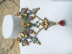 Купить Весна на Афоне - бирюзовый, розовый, золотой, dolce gabbana, byzantyne, византия, византийский стиль