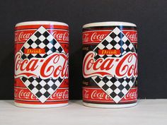 Vintage Coca Cola Salt And Pepper Shakers Retro by KozyKitchy