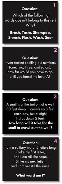 Time to add some challenging fun to your classroom routine with Brain Teasers for teens! First, give these head-scratchers a try: When you're ready, scroll down for the answers. Now, did you really… Brain Teasers For Teens, Brain Teasers With Answers, Riddles With Answers, Tricky Riddles, Number Riddles, Challenging Riddles, Mind Riddles, Brain Teasers Riddles, Classroom Routines