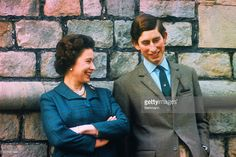 News Photo : Prince Charles and Queen Elizabeth are shown here...