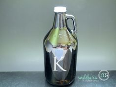 Personalized Beer Growler  Etched Growler  Groomsman by Melshera, $20.00