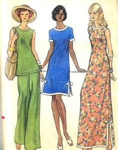 Vintage 70s Vogue 8876 UNCUT Misses Maxi Dress by RomasMaison