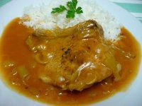 Srbské vepřové žebírko Recept - Milujivareni.cz No Salt Recipes, Junk Food, Japanese Food, Curry, Food And Drink, Chicken, Cooking, Ethnic Recipes, Kitchen