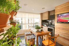 Como decorar varanda gourmet com horta