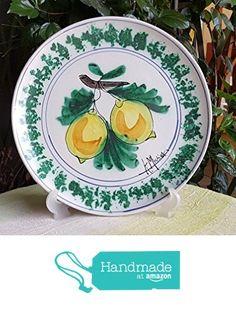 Piatto in ceramica siciliana decorato a mano. Piatto decorativo da appendere. Le ceramiche di Ketty Messina. da Le ceramiche di Ketty Messina https://www.amazon.it/dp/B0761W9QHC/ref=hnd_sw_r_pi_dp_BzPZzbB2XX8X0 #handmadeatamazon