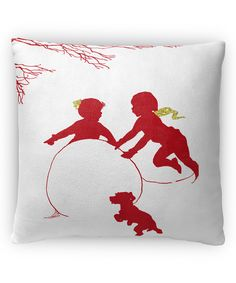 Look what I found on #zulily! Red Winter Play 2 Pillow by KAVKA Designs #zulilyfinds