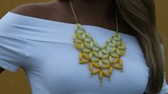 $17 Casting Flower Design Yellow Necklace $17.00 Includes matching earrings