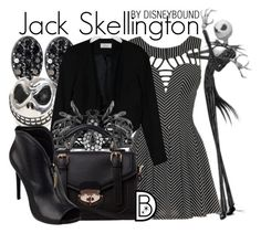 Jack Skellington by leslieakay on Polyvore featuring polyvore, fashion, style, Closet, GUESS and BERRICLE