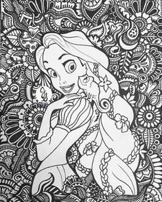 Printable Adult Coloring Pages, Cute Coloring Pages, Mandala Coloring Pages, Coloring Books, Free Coloring, Disney Princess Coloring Pages, Disney Princess Colors, Disney Colors, Mandalas Painting