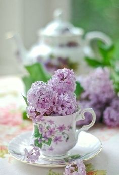 Lilac teacup! More