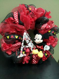 Mickey mouse wreath February 2014