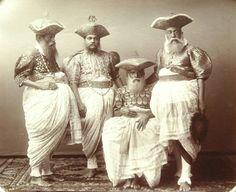 Group of Kandyan chiefs, Plâté & Co., Colombo and Nuwara Eliya, ca. 1890, albumen silver print at Rubin Museum of Art.