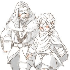 Aaaaaa that's sooo cute of how Bilbo and Thorin are actually cute couples