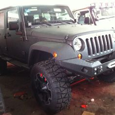 Jeep with Rhino Paint