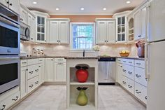 White Kitchen Design, Pictures, Remodel, Decor and Ideas - page 75.  Similar colors to our kitchen, love the backsplash!