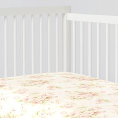 Crib Fitted Sheet in Shabby Chenille by Carousel Designs.