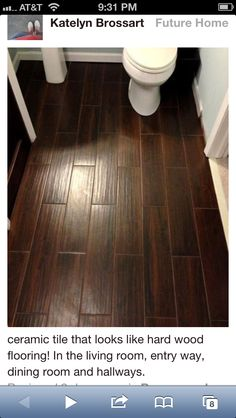 Tile That Looks Like Wood I Want It Installed Throughout House All Rooms This Color Sold At Lowes