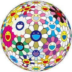 Takashi Murakami / found on www.kunzt.gallery / Flower Ball (3-D) Autumn 2004, 2013 / Print