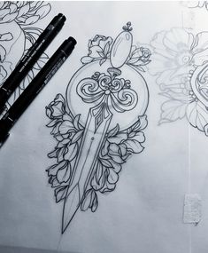 Excellent simple ideas for your inspiration Tattoo Sketches, Tattoo Drawings, Bauch Tattoos, Beginner Tattoos, Sword Tattoo, Tattoo Zeichnungen, Tattoo Portfolio, Stomach Tattoos, Neue Tattoos