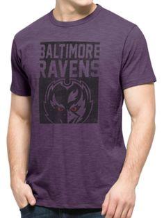 Baltimore Ravens 47 Brand Purple Block Logo Soft Cotton Scrum T-Shirt fea60dabc