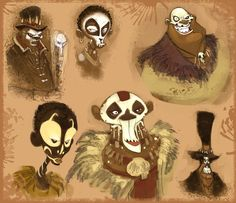 awesome voodoo face paint sketches