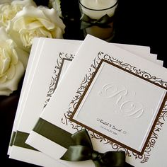 perfect for autumn wedding.. by Design for Eternity #wedding #invitation