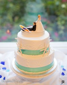 Surf themed wedding cakes
