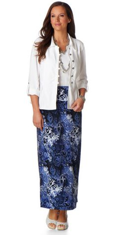 Printed Maxi Skirt Outfit - Christopher & Banks