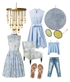 """""""Light blue"""" by jennysjoedin on Polyvore featuring Sans Souci, French Connection, Sandy Liang, Billabong, Emporium Home, Chicwish, Pier 1 Imports and Maxim"""