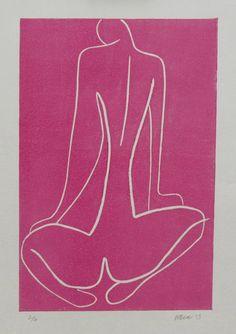 膝の上に手で女性、6の限定版4