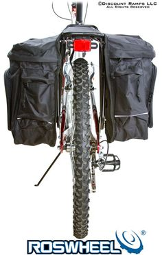 Roswheel Bicycle Pannier Bag... I have cheapie Schwinn panniers but that's how they look on my bike. YEAH!!!