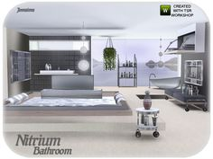 Nitrium modern bathroom by Jomsims - Sims 3 Downloads CC Caboodle