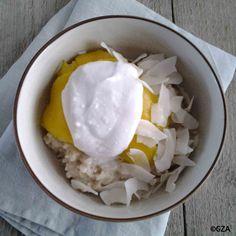 Tropische rijstepap met mango. #glutenvrij #lactosevrij