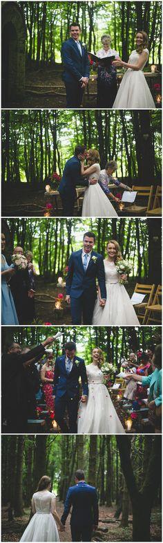 Mark & Gretta's Kilyon Manor Woodland Wedding shot by Wild Things Wed