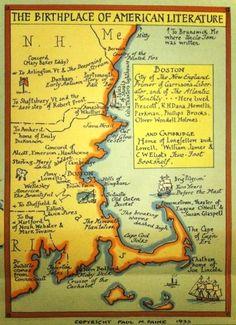 literary travel  New England